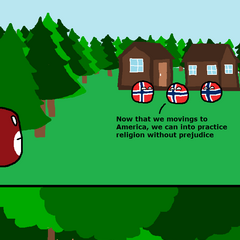 Norwegian immigrants in America.
