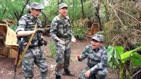 """Chinese sings Serbian song """"Garda Panteri"""""""