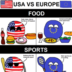 Some differences between USA and Europe
