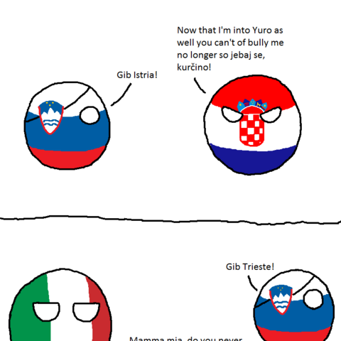 Trieste is first mentioned in this comic.