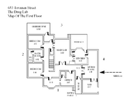 The Drug Lab First Floor Map