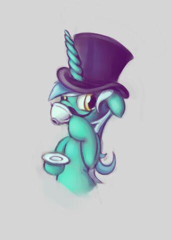 File:186220 - artist maxtaka like a sir Lyra Lyra Heartstrings moustache tagme.jpg