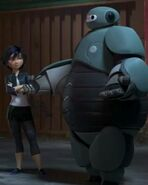 Baymax's first battle suit
