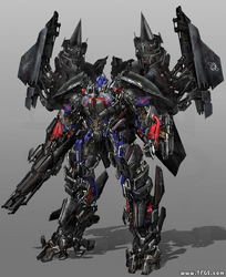 Optimus combined with Jetfire