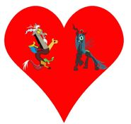 Discord (Draconsequus) and Queen Chrysalis