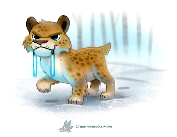 File:Daily paint 1259 light sabre tooth tiger by cryptid creations-da1847g.png