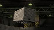 Diesel stuck in crate