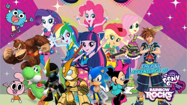 File:Emerl's Adventures Of My Little Pony Equestria Girls Rainbow Rocks Poster.png
