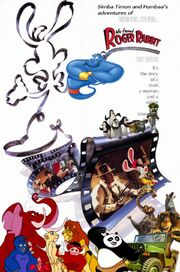 Simba Timon and Pumbaa's adventures of Who Framed Roger Rabbit Poster