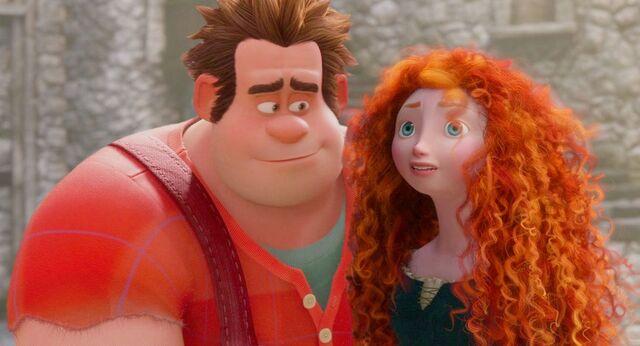 File:Wreck-It-Ralph and Princess Merida.jpg