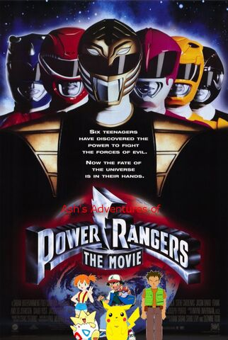 File:Ash's Adventures of Mighty Morphin Power Rangers the Movie poster.jpg