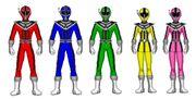 Five data squad rangers