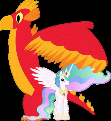 File:Celestia and her Sun Phoenix.png
