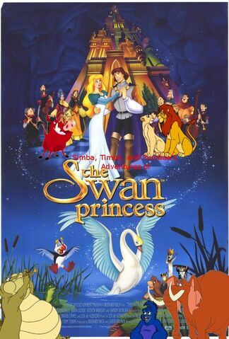 File:Simba, Timon, and Pumbaa's Adventures of The Swan Princess poster.jpg