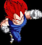 Vegeta super saiyan god vector by armorkingtv21-d6mt0ts
