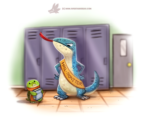 File:Daily paint 1229 hall monitor lizard by cryptid creations-d9xmxen.png