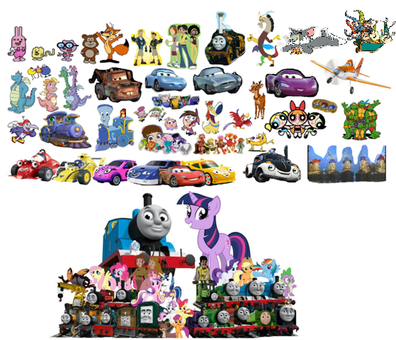 File:Roary the Racing Car and Theodore Tugboat's Whole team Remake.png