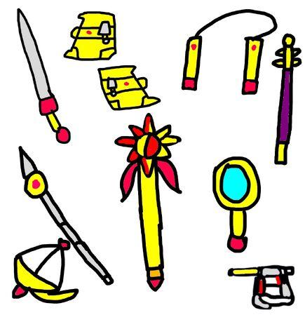 File:Sunset Shimmer's nine power weapons.jpeg