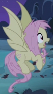 Fluttershy as a vampire fruit bat pony