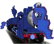 MLP Princess Luna as a Thomas character