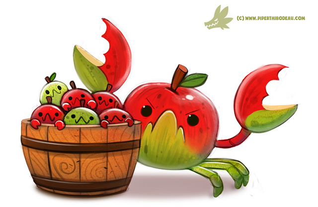 File:Daily paint 1196 crabapples by cryptid creations-d9tlk89.png