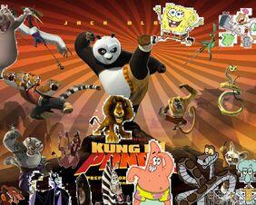 Spongebob's adventures in Kung fu panda.