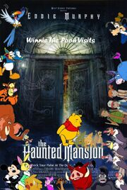 Winnie The Pooh Visits The Haunted Mansion Poster