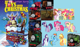 How Skarloey, twilight Sparkle and the toys saved christmas poster