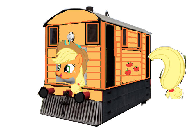 File:Applejack as a Thomas character.png