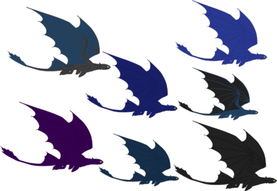 Toothless and Nightstar's hatchlings