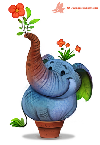 File:Daily paint 1173 elephlant by cryptid creations-d9qsxv0.png