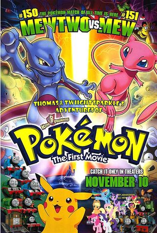 File:Thomas and Twilight Sparkle's Adventures of Pokemon The First Movie Poster.jpg