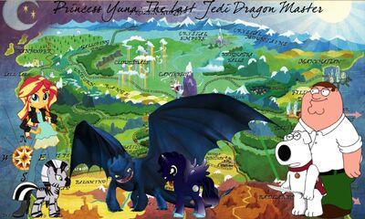 Princess Yuna- The Last Jedi Dragon Master poster