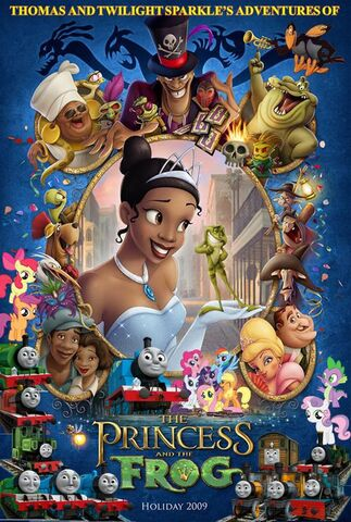 File:Thomas and Twilight Sparkle's Adventures of The Princess and the Frog Poster.jpg