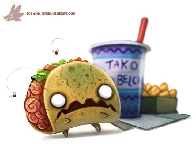 File:Daily paint 1063 zombie taco by cryptid creations-d9dqal4.png