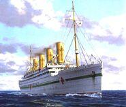 Britannic Hospital Ship White Star Line U Boat Mine Sinking WW1
