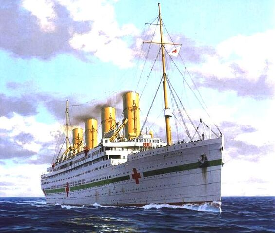 File:Britannic Hospital Ship White Star Line U Boat Mine Sinking WW1.jpg