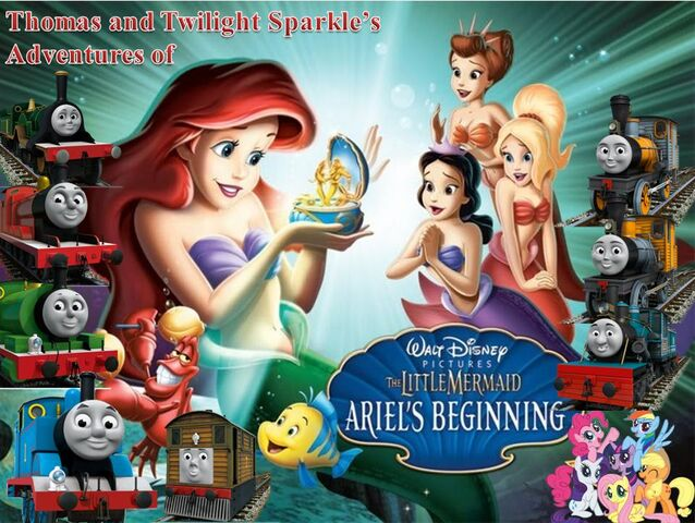 File:Thomas and Twilight Sparkle in The Little Mermaid - Ariel's Beginning Poster.jpg