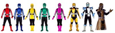 Eight energy chaser rangers