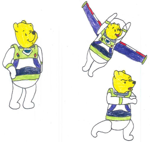 File:Pooh in his space ranger uniform in 3 poses by yakkowarnermovies101-d9q7ccn.jpg