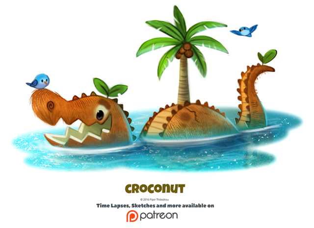 File:Daily 1345 croconut by cryptid creations-dabrmtg.png