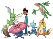 Mike and his pokemon