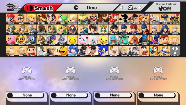 File:Super smash bros every character and rayman by spikeylord-d8iy2yn.png