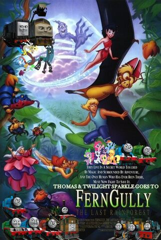 File:Thomas and Twilight Sparkle Goes to FernGully The Last Rainforest Poster.jpg