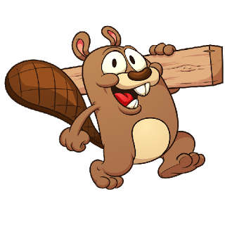 File:Funny cartoon beaver carrying wood.png