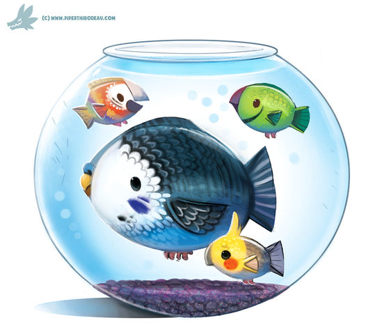 File:Daily paint 1039 parrot fish by cryptid creations-d9aw94l.png