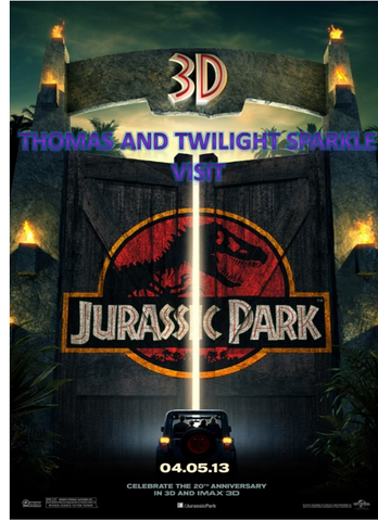 File:Thomas and Twilight Sparkle visit Jurassic Park.png