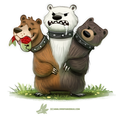 File:Daily paint 1266 cerbearus by cryptid creations-da21kcp.png