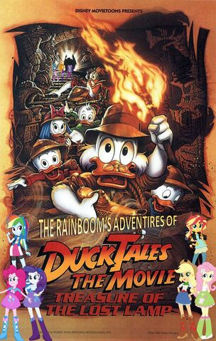 File:The Rainbooms' Adventures of DuckTales the Movie - Treasure of the Lost Lamp Poster.jpg