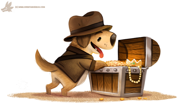 File:Daily paint 1093 golden retriever by cryptid creations-d9h6883.png